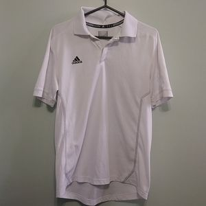 FREE WITH A PURCHASE\ Adidas white mens polo